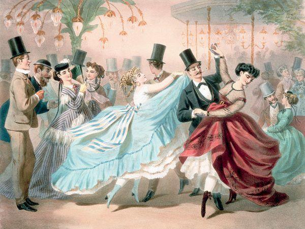 Танцевальная открытка 1993 года, автор - Шарль Вернье